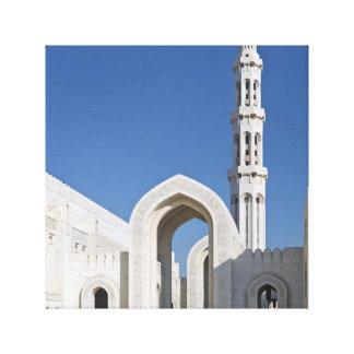Sultanato magnífico Omán de Muscat de la mezquita  Lienzo Envuelto Para Galerias