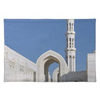 Sultanato magnífico Omán de Muscat de la mezquita  Manteles