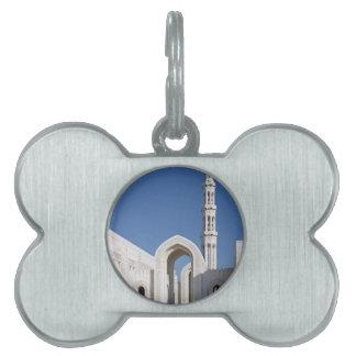 Sultanato magnífico Omán de Muscat de la mezquita  Placas Mascota