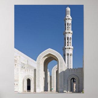 Sultanato magnífico Omán de Muscat de la mezquita  Posters