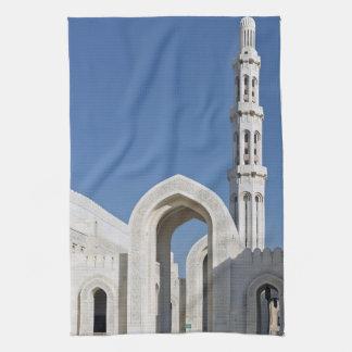 Sultanato magnífico Omán de Muscat de la mezquita  Toallas De Mano