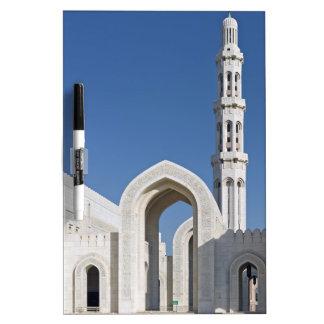 Sultanato magnífico Omán de Muscat de la mezquita  Pizarras Blancas