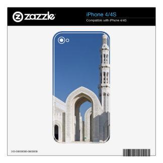 Sultanato magnífico Omán de Muscat de la mezquita  Skins Para eliPhone 4