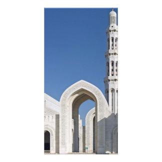 Sultanato magnífico Omán de Muscat de la mezquita  Tarjeta Con Foto Personalizada