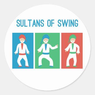 Sultans of swing classic round sticker