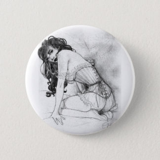 Sultry Corset Pinback Button