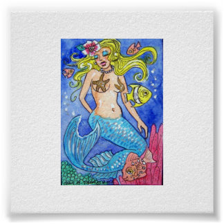 SULTRY MERMAID POSTER