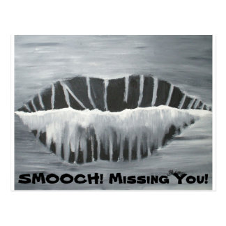 Sultry Oral Cavity, SMOOCH! Missin... - Customized Postcard