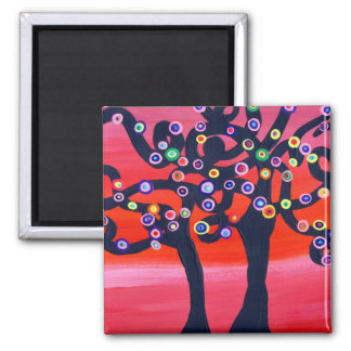 Sultry Sunset 2 Inch Square Magnet