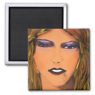 Sultry Woman Sketch Refrigerator Magnet