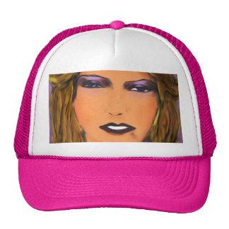 Sultry Woman Sketch Trucker Hat