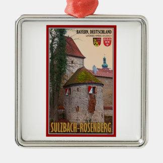 Sulzbach-Rosenberg - City Wall Metal Ornament