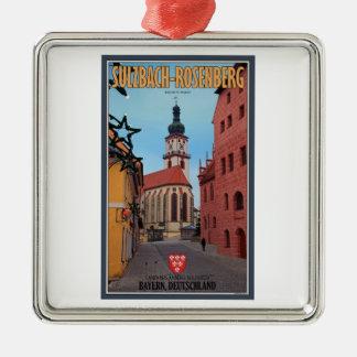 Sulzbach-Rosenberg - Winter Street Metal Ornament