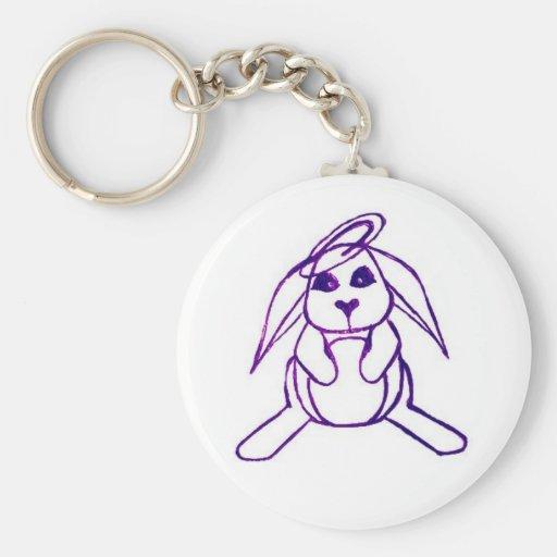 sum bunny basic round button keychain