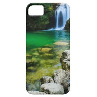 Sum Waterfall in Vintgar Gorge, near Bled, Sloveni iPhone SE/5/5s Case