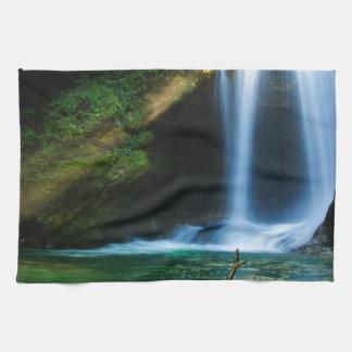 Sum Waterfall in Vintgar Gorge, near Bled, Sloveni Kitchen Towels