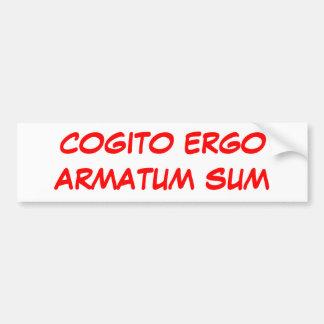 SUMA DE COGITO ERGOARMATUM PEGATINA PARA AUTO