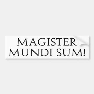 ¡Suma de Magister Mundi! Pegatina para el parachoq Pegatina De Parachoque