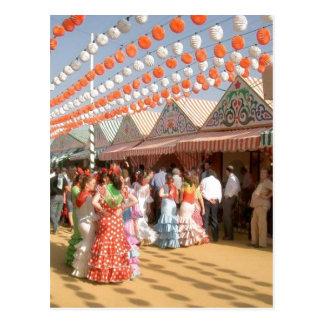 Sumario Description Feria de Abril (Sevilla), muje Postcard