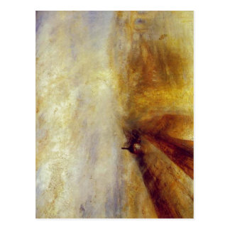 Sumario J. M. W. Turner - Rain, Steam and Speed -  Postcard