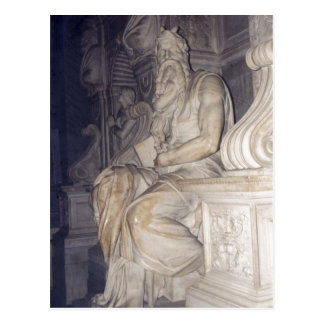 Sumario Photo of Moses, a sculpture by Michelangel Postcard