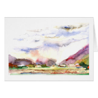 Sumas Valley farmland in the rain Card