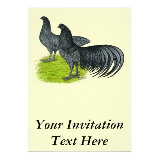 Sumatra:  Blue Pair Personalized Invitation