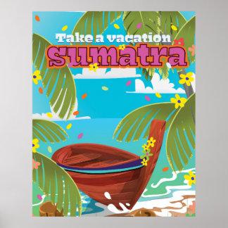 Sumatra Indonesia travel poster