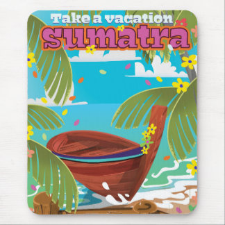 Sumatra Indonesia travel poster Mouse Pad