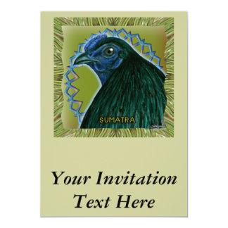 Sumatra Rooster Framed Card