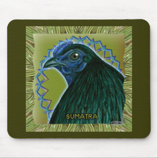Sumatra Rooster Framed Mouse Pad