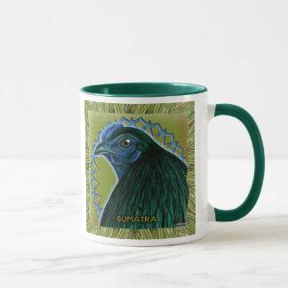 Sumatra Rooster Framed Mug