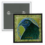 Sumatra Rooster Framed Pinback Button