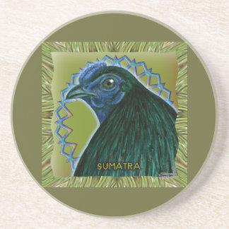Sumatra Rooster Framed Sandstone Coaster