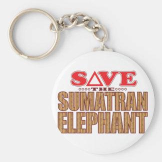 Sumatran Elephant Save Keychain
