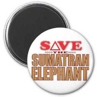 Sumatran Elephant Save Magnet