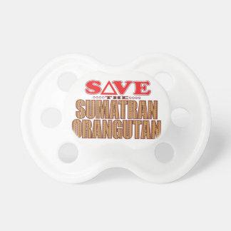 Sumatran Orangutan Save Pacifier