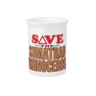 Sumatran Rhino Save Beverage Pitcher