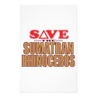 Sumatran Rhino Save Stationery