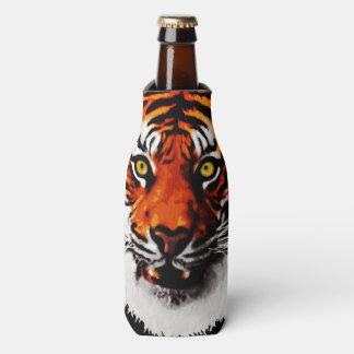 Sumatran Tiger Art Realistic Digital Painting Bottle Cooler