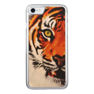 Sumatran Tiger Art Realistic Digital Painting Carved iPhone 7 Case