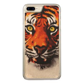 Sumatran Tiger Art Realistic Digital Painting Carved iPhone 7 Plus Case