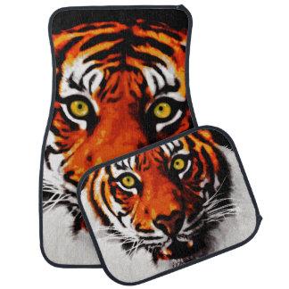 Sumatran Tiger Art Realistic Digital Painting Floor Mat