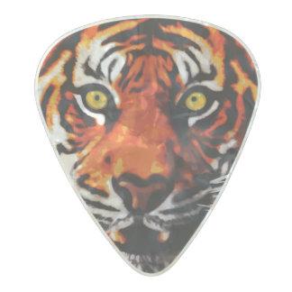 Sumatran Tiger Art Realistic Digital Painting Pearl Celluloid Guitar Pick