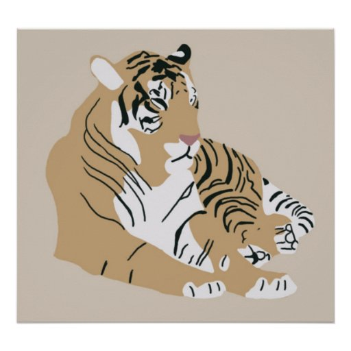Sumatran Tiger brown poster