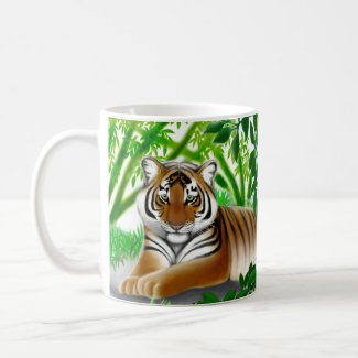 Sumatran Tiger in Bamboo Jungle Mug