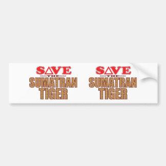 Sumatran Tiger Save Bumper Sticker