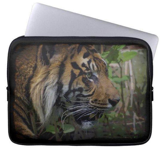 Sumatran Tiger Wild Animal Big Cat-Lover Laptop Sleeve