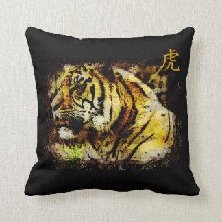 Sumatran Tiger Wild Tiger Wildlife Art Throw Pillow