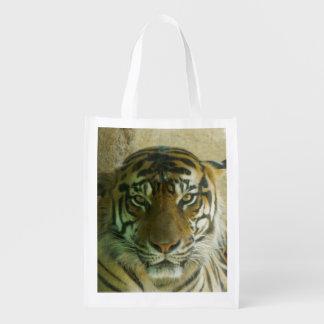 Sumatran Tigress Reusable Bag Grocery Bag